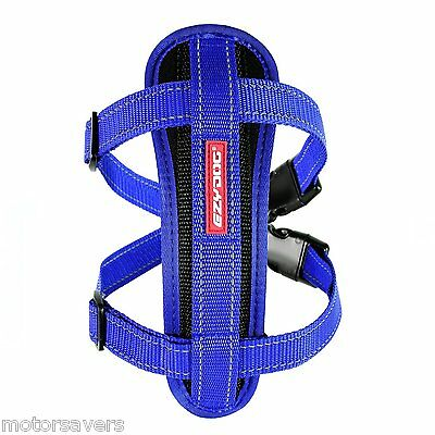 EZYDOG Chest Plate Dog Harness - Blue - Medium - FREE DELIVERY !