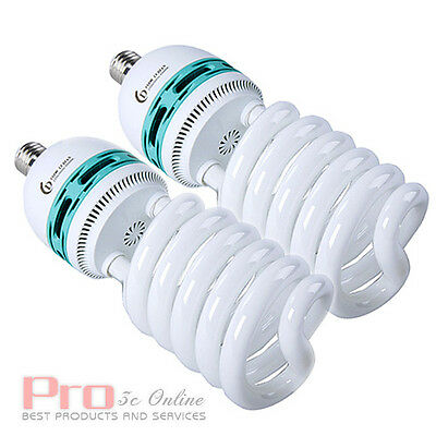2x 125W (2x 625W eq) Daylight Light Bulb E27 CFL Bulbs UK Local