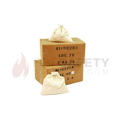 NEW ABC70 DRY POWDER FIRE EXTINGUISHER MULTIPACK REFILL PACK - 2 x 6KG