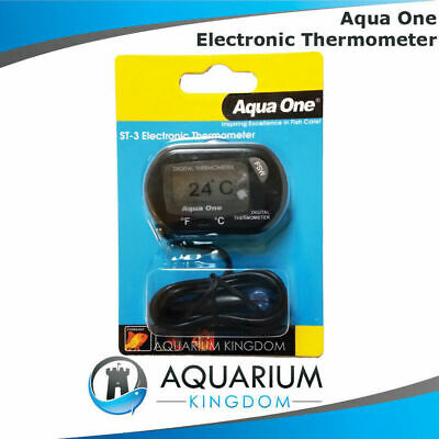 10299 Aqua One External LCD Digital Thermometer Electronic Aquarium Fish Tank