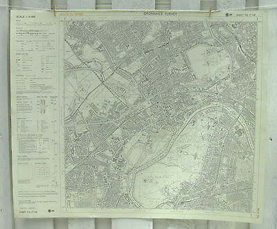 OS Ordnance Survey Map Covering Brentford, Isleworth and North Sheen 1988