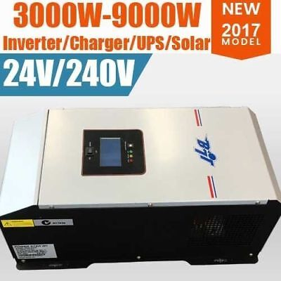 NEW ! 9000W PEAK 24V PURE SINEWAVE POWER INVERTER 40A CHARGER 2017 Model