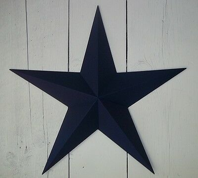 Heavy Duty Metal Barn Star 53 Inch Painted Solid Navy Blue