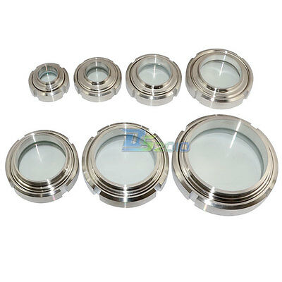 """32-102mm 1-1/4""""-4"""" Sanitary Sight Glass Stainless Steel SS316 Circular Viewing"""