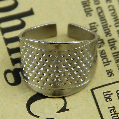3pcs Thimbles Adjustable Size Ring Thimble Sewing Craft Accessories New