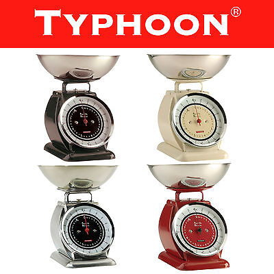 Typhoon Bella Traditional Retro Vintage Kitchen Scales 4kg in Assorted Colours
