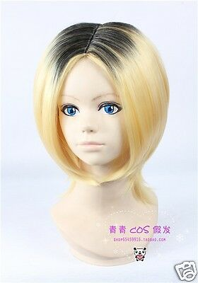 Free Cap + Haikyuu Karasuno High School Volleyball Kenma Kozume Cosplay Wig