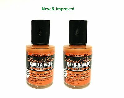 Liquid Gold Glue 1oz Hair Extension Bond  Weave Weft (New Improved) (Pack of 2)