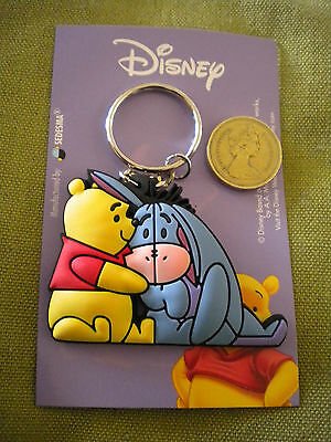 Winnie The Pooh character rubberised 3D Disney keyrings ideal gifts