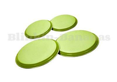 4 Hob Covers Lime Green Stainless Steel Electric Cooker Ring Lid Protector 7A