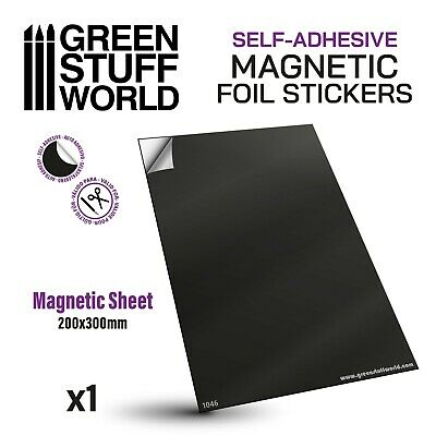 Magnetic Magnet Sheet - Self Adhesive - A4 size - for Warhammer movement trays