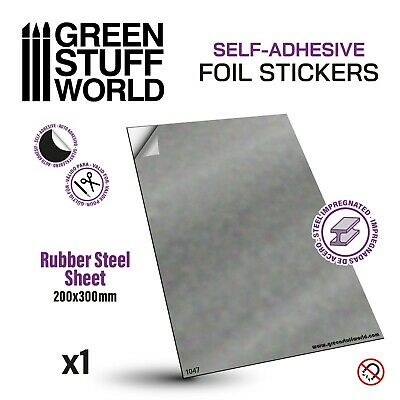 Rubber Steel Sheet - Self Adhesive - A4 size - for Warhammer movement trays