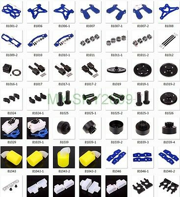 HSP Racing spare parts 81001 to 83003 for 1/8 RC Model Buggy Truck on-road car