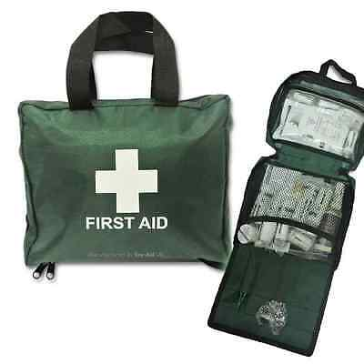 105pcs EZY-AID Deluxe First Aid Kit Bag : Includes Crepe, Ice Packs, CE Marked