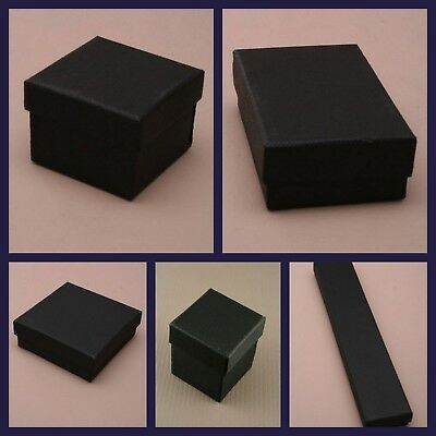 Black Jewellery Gift Box Ring Necklace Bracelet Earrings Watch Small Present New
