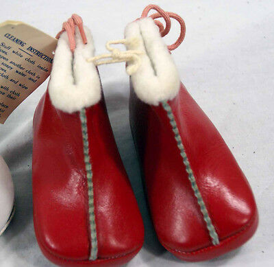 Lot of 3 Pair Vintage Baby Shoes Christmas