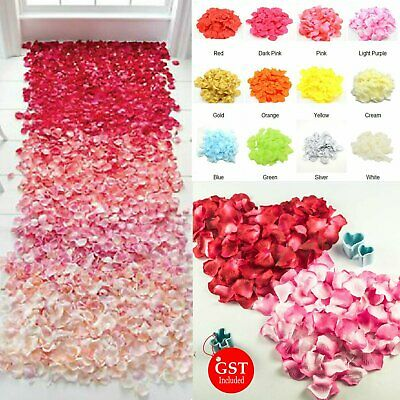 144pcs Artificial Silk Petals Flowers Rose Wedding Flower Girl Basket Decoration