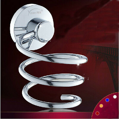 Modern Polished Chrome Bathroom Accessories Solid Brass Hair Dryer Wall Mounted