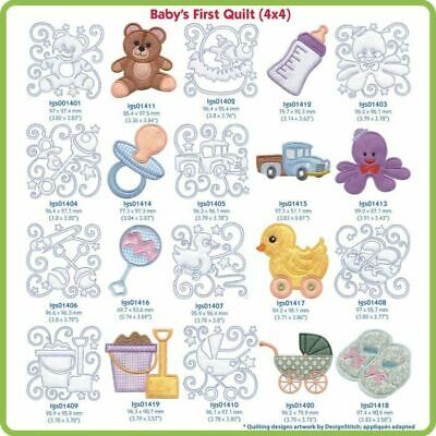 Baby's First Quilt Embroidery Designs By Lindee Goodall