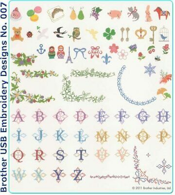 Brother Usb Embroidery Designs - No. 007 Petite