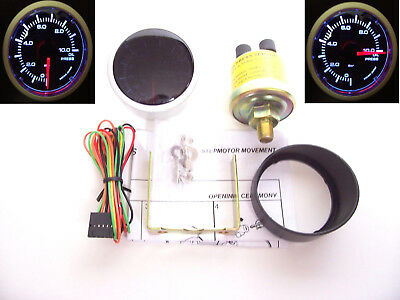 RSR Öldruck Anzeige SET 52mm Stepper Smoke Geber Messer 16V G60 G40 VR6 Turbo S2
