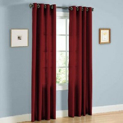 TWO HEAVY THICK panels 80% BLACKOUT BURGUNDY grommet window curtain LINED K92