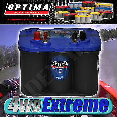 Optima Blue Top Battery 12 Volt New Agm 34M 800Cca 1000Mca Marine Ski Boat Blown