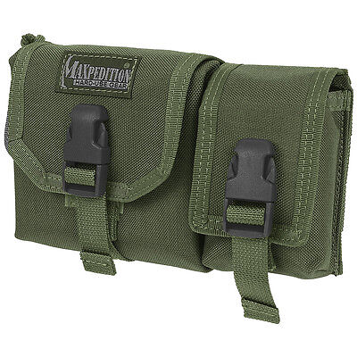 Maxpedition Tear Away Waterproof Hunting Map Case & Gps Webbing Pouch Od Green