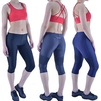 PIMD VIPER BLACK LEGGINGS Running Yoga Fitness Gym Capri Exercise Womens