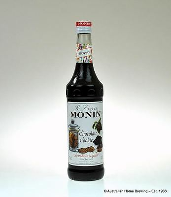 Monin Chocolate Cookie Syrup - coffee syrup dessert Monin Syrup concentrates