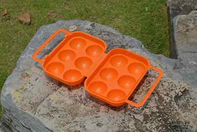 Outdoor Camping BBQ Plastic Carton Holder Egg Storage Tray Box Blue Shockproof