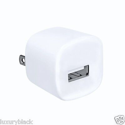 Lot 20 pcs Home USB AC Wall Plug Cube Charging Adapter for universal 6 plus 5 4S