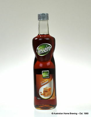 Teisseire Caramel Syrup 1L x2 flavoured syrup flavoured coffee syrup milkshake