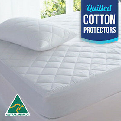 Cotton Quilted Aus Made Fully Fitted Mattress Protector(All Sizes)