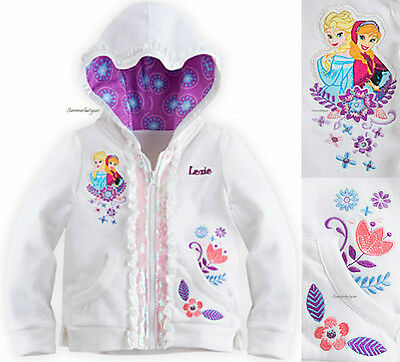 Anna And Elsa Hoodie For Girls 5/6 7/8 9/10 ~Disney Store~ Frozen Free Ship