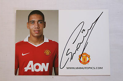 CHRIS SMALLING GENUINE HAND SIGNED 6x4 AUTOGRAPH PHOTO MANCHESTER UNITED