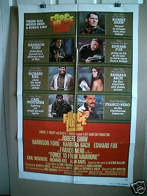 Force 10 From Navarone~1 Sheet~1978~Original~Movie Poster~Harrison Ford