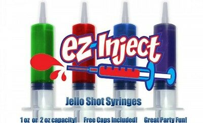 25 Pack EZ-InjectTM Jello Shot Syringes, Large 2.5oz, New, Free Shipping