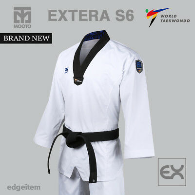 MOOTO EXTERA S5 Uniform (with Black V NECK) WTF Taekwondo Uniform Dobok