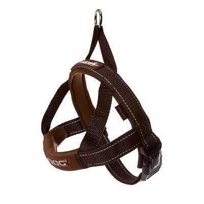 EZY-DOG QUICK FIT HARNESS HIGH QUALITY & COMFORT FOR DOG & OWNER (Chocolate)