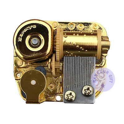 Golden Wind up Sankyo Musical Movement for DIY Music Boxes (48 Tunes Option)