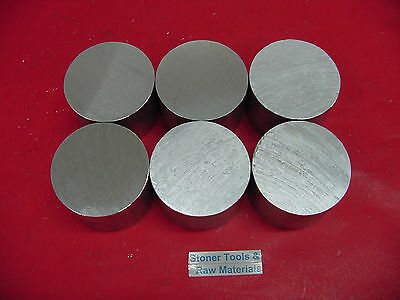 """6 Pieces 3"""" ALUMINUM 6061 ROUND ROD 3"""" long T6511 3.00"""" OD Solid Lathe Bar Stock"""