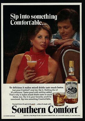 1977 SOUTHERN COMFORT Whisky - Slip Into Something Comfortable - VINTAGE AD