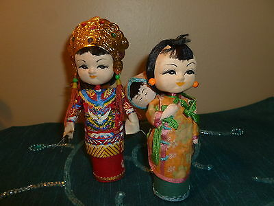 1960's  Museum of Natural History Chinese Dolls Vintage