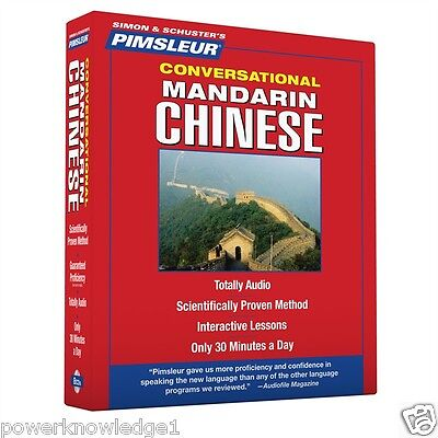 New Pimsleur 8 CD Learn to speak Mandarin Chinese Language (16 Lessons)