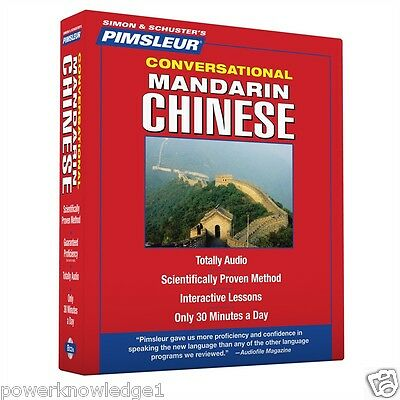 Pimsleur Mandarin Chinese Language 8 CD Learn to speak (16 Lessons) - NEW
