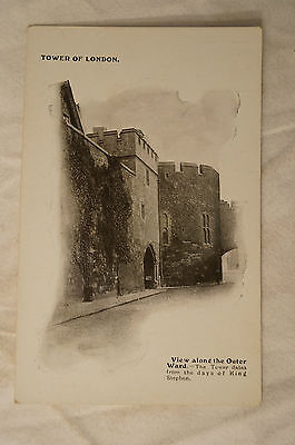 Tower of London - Outer Ward - London - England - Vintage -Postcard.