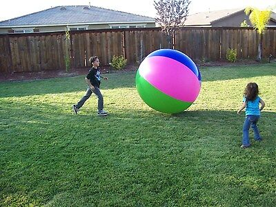 """One 40"""" or (3 1/3 Ft.) Tall Inflatable Large Beach Ball Party Fun, Monster XL"""