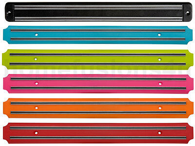 Wall Magnetic Knife Holder Kitchen Chef Rack Utensils Tool Storage Bar 6 Colours