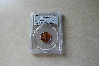Buy 3 Items Get $5 Off!! 1963 Proof Lincoln Memorial Cent PCGS PR-68 RD